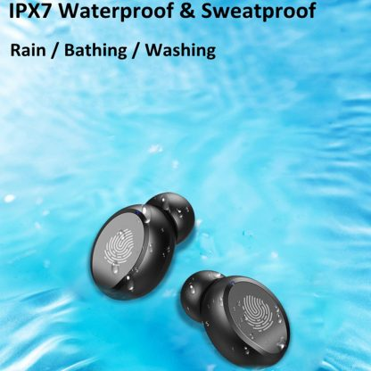 Wireless Bluetooth V5.0 Earphones HiFi Stereo Waterproof Headphones LED TWS with Microphone Earbuds Sports Touch Control Headset