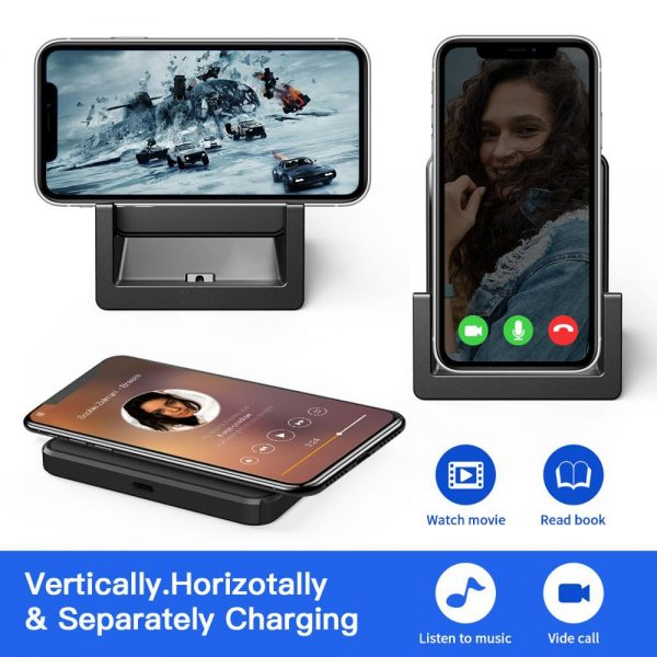 BLZK QI 15W Fast Charge Wireless Charger For iPhone 8 11 11Pro X XS for Samsung Buds For Airpods Pro Charger Stand Dock
