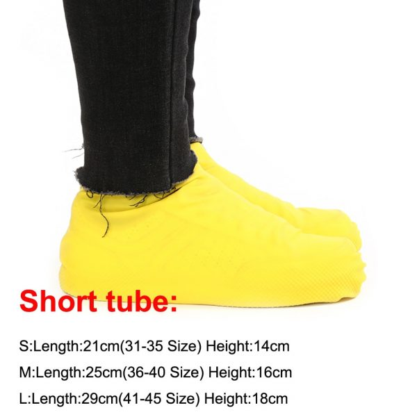 1 Pair Reusable Latex Waterproof Rain Shoes Covers Slip-resistant Rubber Rain Boot Overshoes S/M/L Shoes Accessories