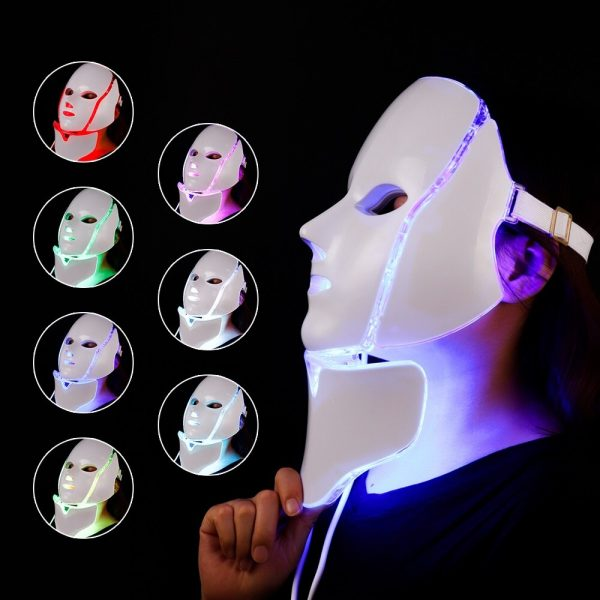 Foreverlily 7 Colors Led Facial Mask Led Korean Photon Therapy Face Mask Machine Light Therapy Acne Mask Neck Beauty Led Mask